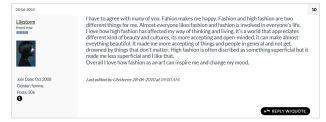 why I Love Fashion- LilystromRL