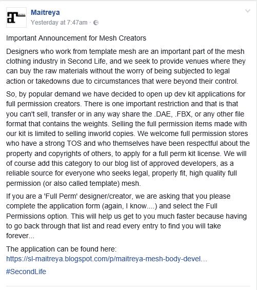 Maitreya - Important Announcement for Mesh Creators.PNG