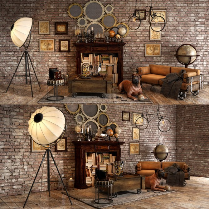 Turbosquid-3D-loft-decorative-set-model_0